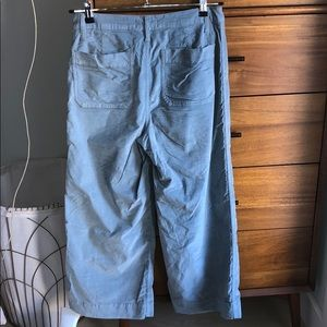 Madewell Pants - Madewell wide leg corduroy pants in blue